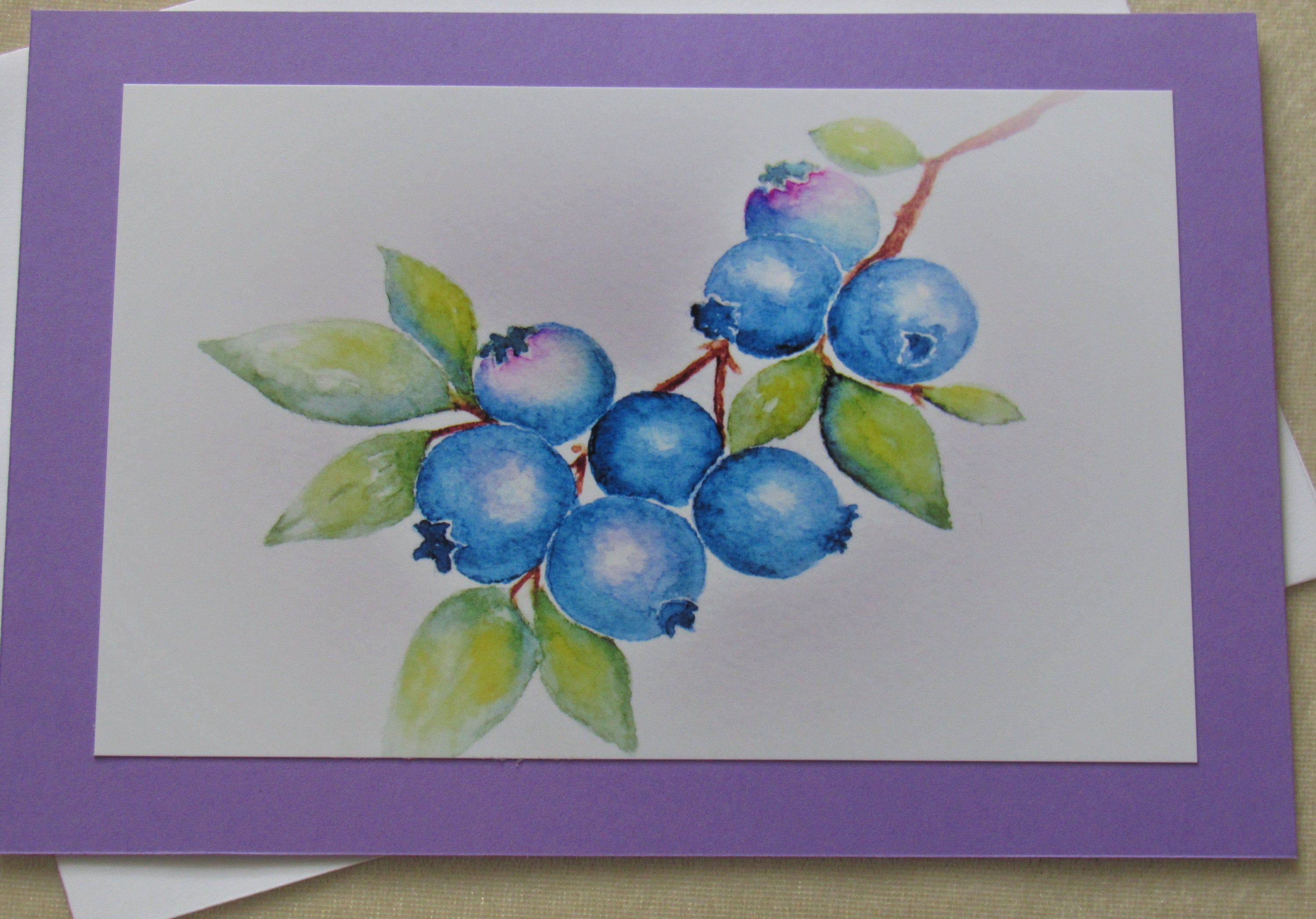 Hand painted card note cards Watercolor cards Handmade cards fall cards water color art greeting cards