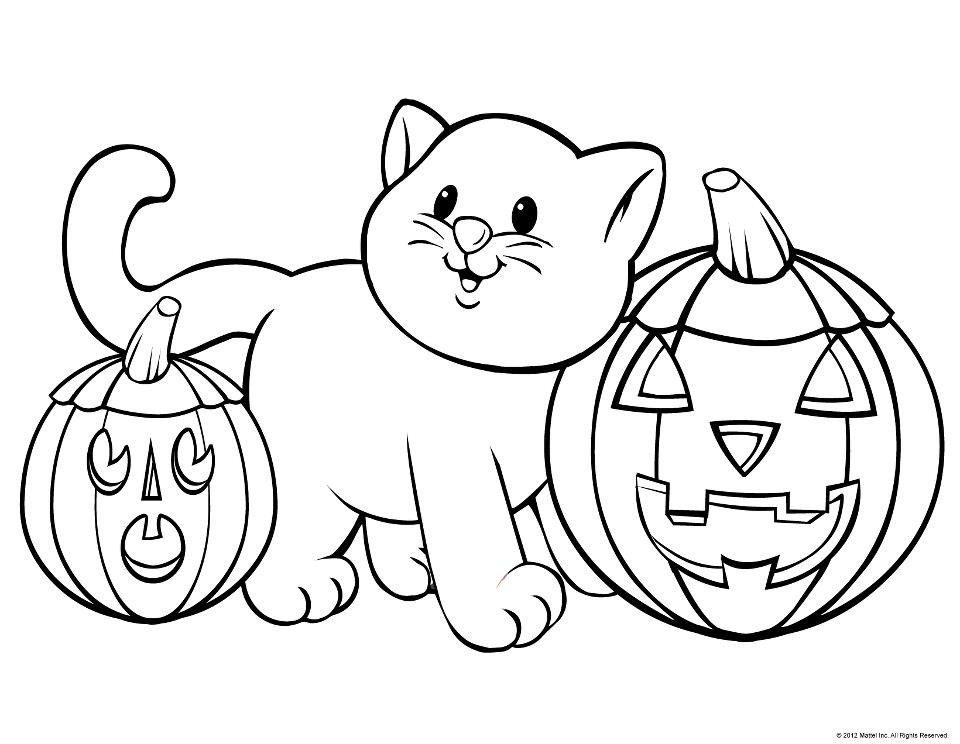 Cute Halloween pic to Print & Cutout Free halloween