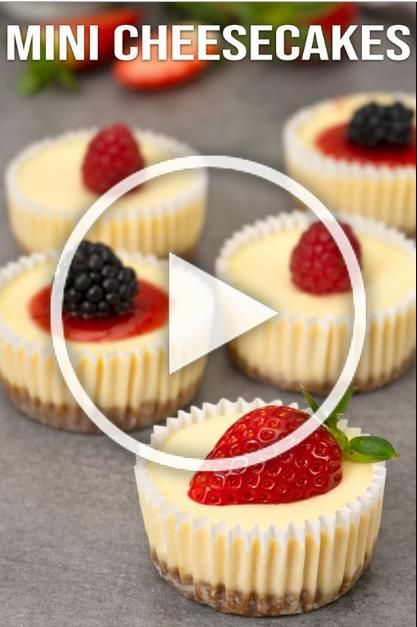 Easy Mini Cheesecakes | The ingredients and how to make it please visit the website. Cookies