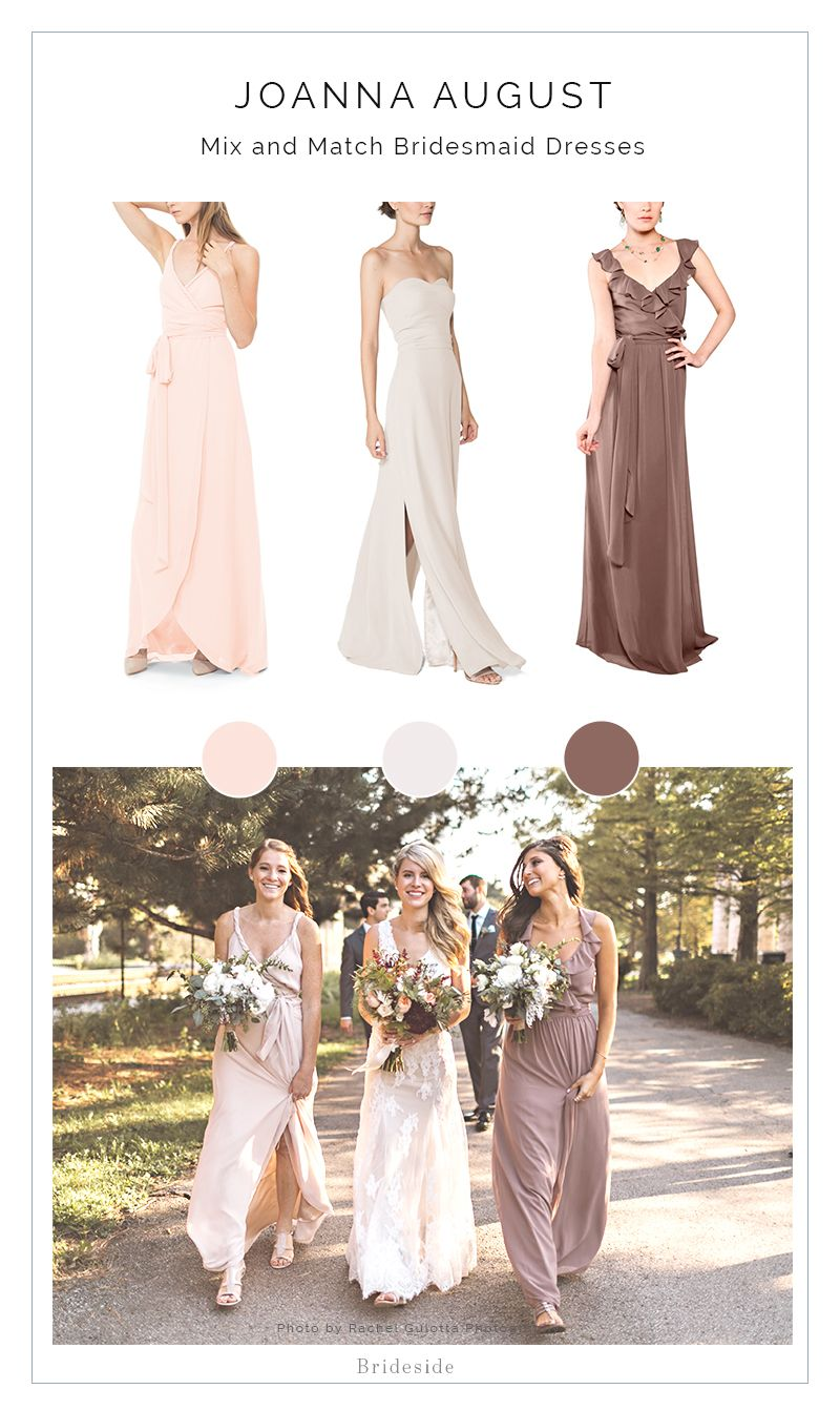 0382f27e680 Find the Perfect Mix   Match Neutral Bridesmaid Dresses by Joanna August.  Shop The Look at Brideside! You re bridesmaids will thank you.