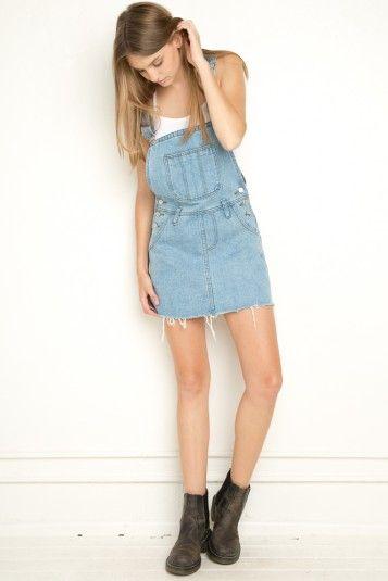melville denim overall skirt dresses