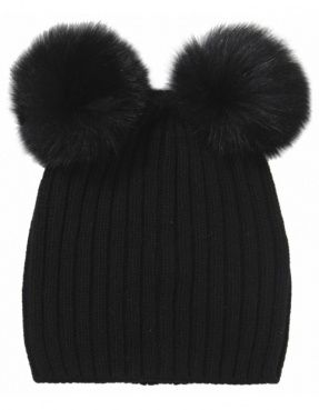 96abe3e5e This hat hasn't been off my head all winter! ❤ Double Pom Pom ...