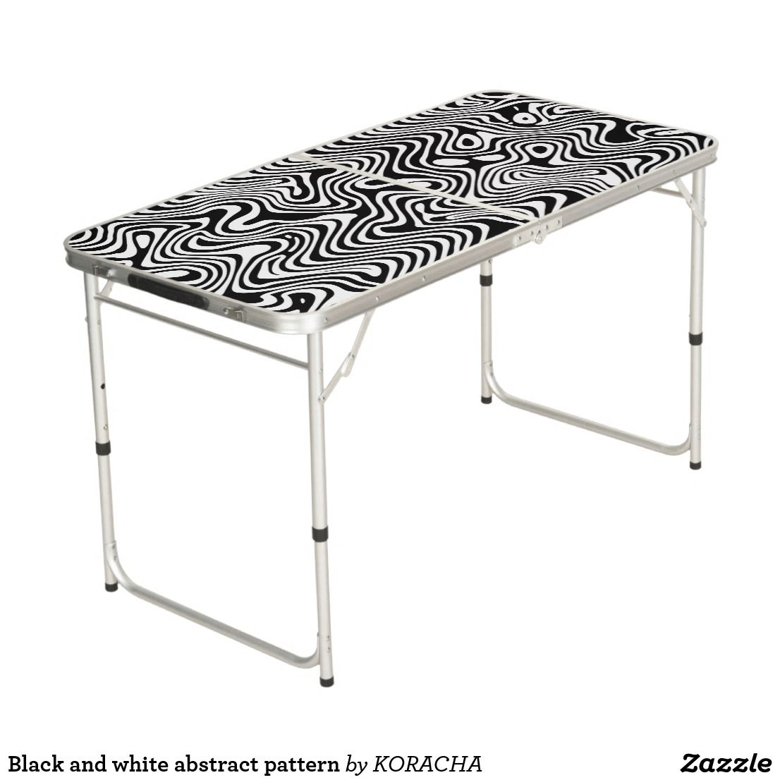 black and white abstract pattern beer pong table zazzle com beer rh pinterest com