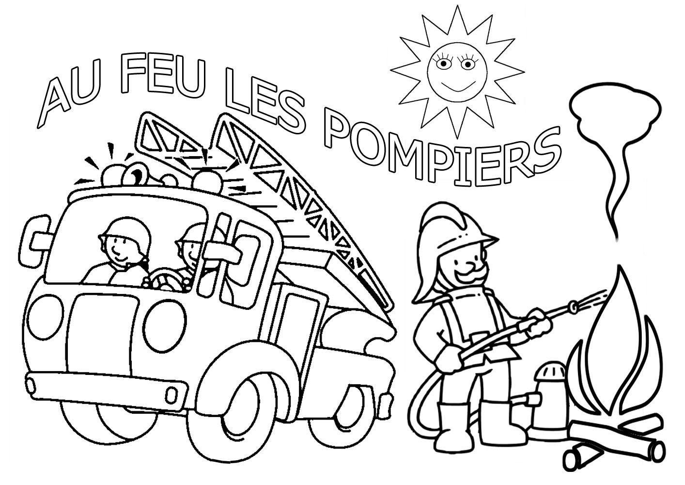 Coloriage sam le pompier colorier dessin imprimer fireman pompier coloriage pompier - Coloriages pompiers ...