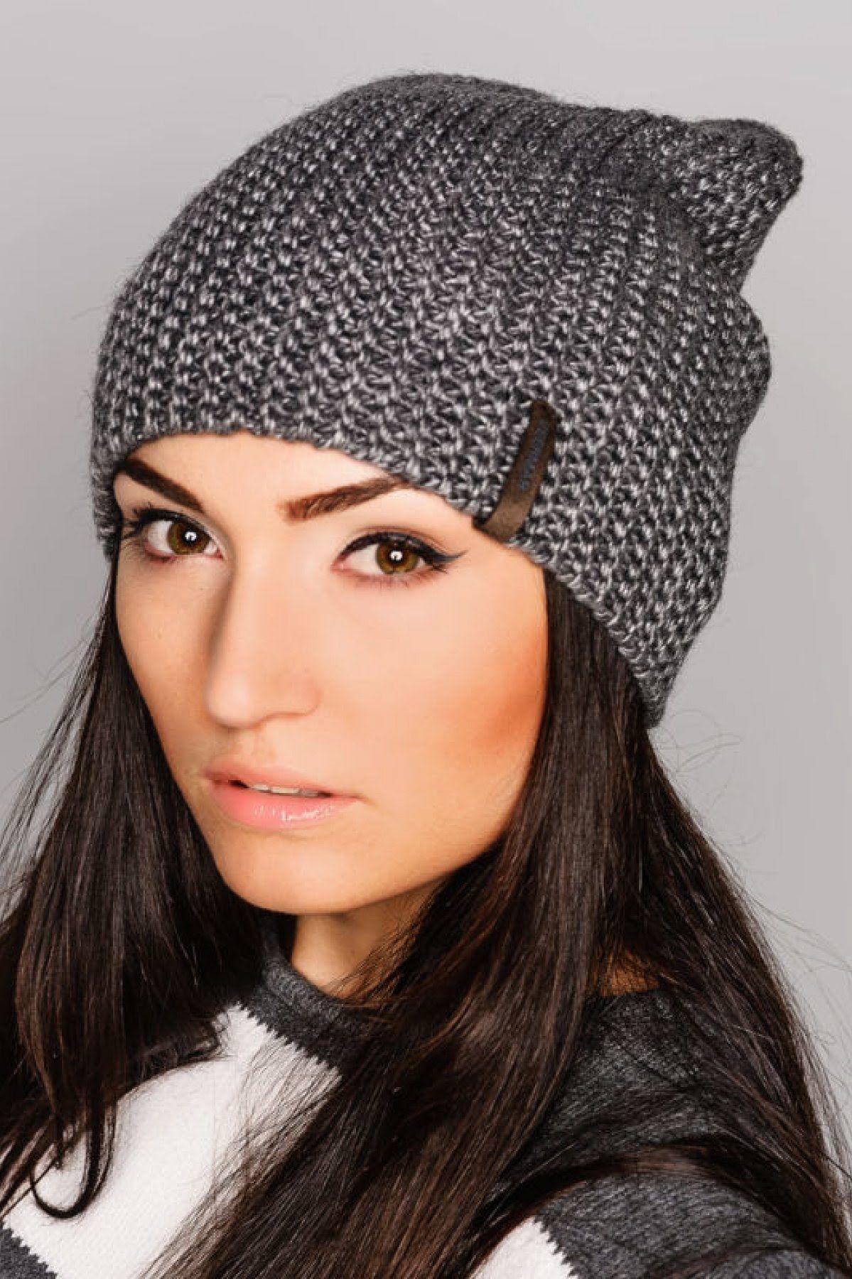 схема вязания спицами шапок