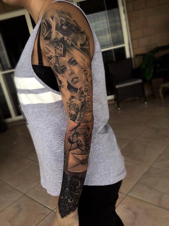 8af79ba38 Forearm Sleeve Tattoos, Head Tattoos, Music Tattoos, Music Tattoo Designs,  Full Sleeve