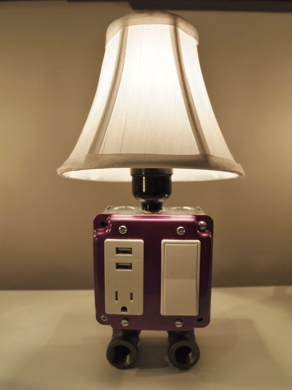 vintage style table or desk lamp with usb charging station usb rh pinterest com
