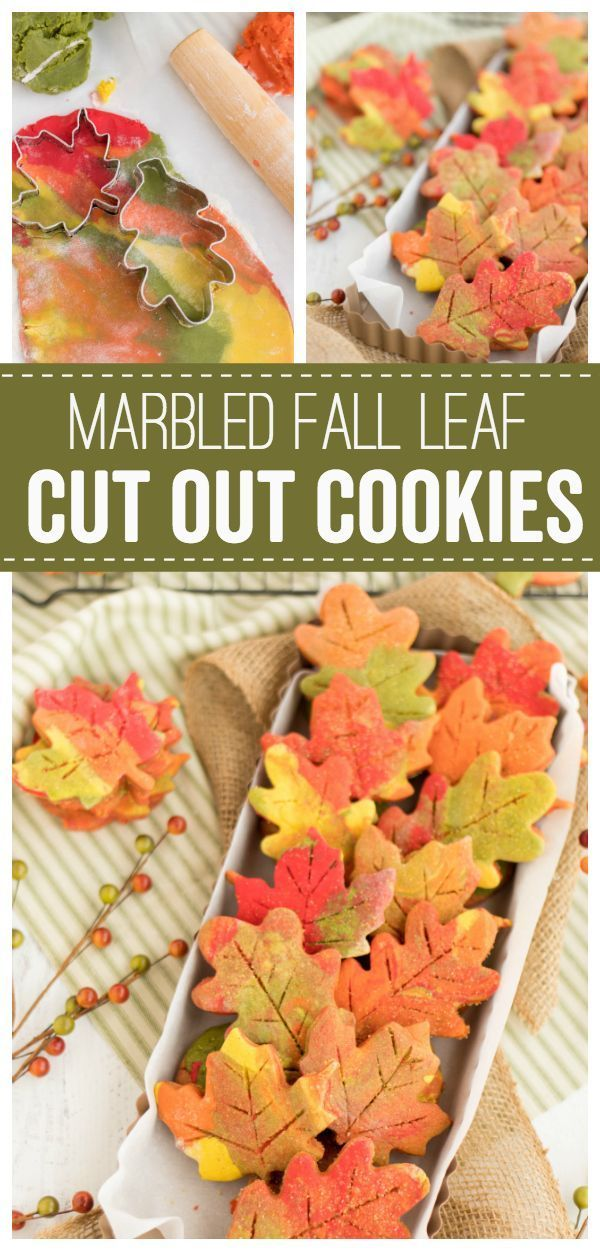 Fall Leaf Cut Out Cookies