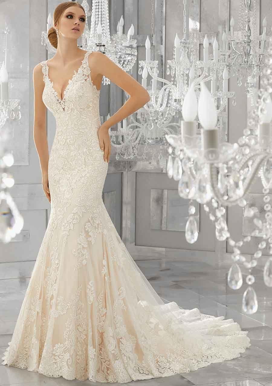 Trouwjurk Modellen.Kanten Trouwjurk Mori Lee Trouwjurk Model 8186 Wedding Inspo