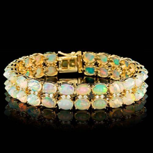 18750-CERTIFIED-14K-YELLOW-GOLD-22-00CT-ETHIOPIAN-OPAL-0-80CT-DIAMOND-BRACELET