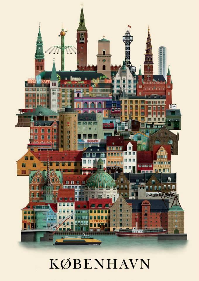 københavnerplakat tegnet af martin schwartz artisan corner