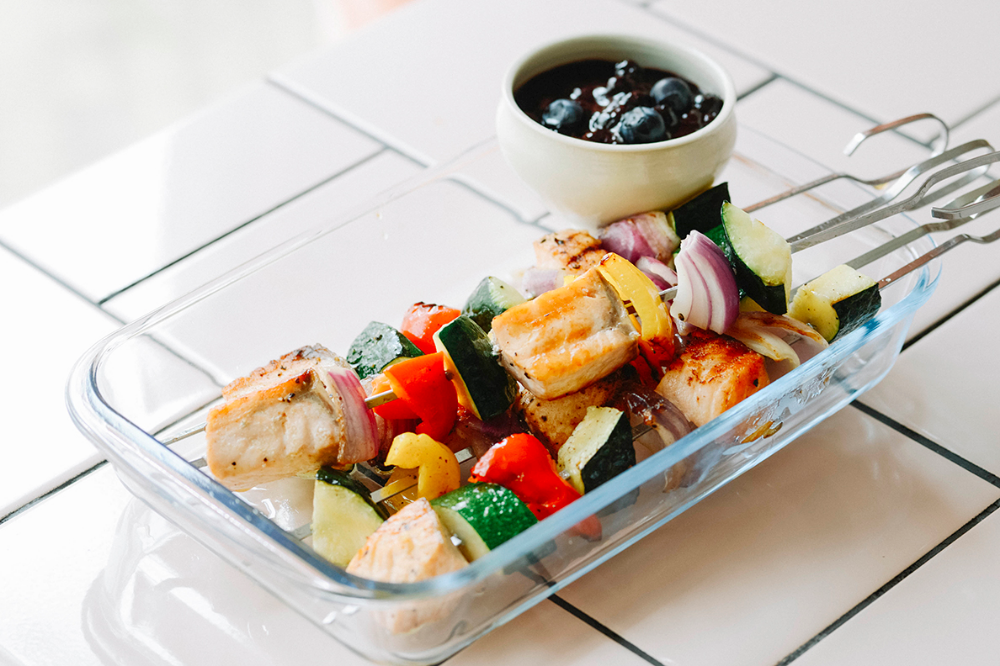 綾夏のフルーツレシピ ブルーベリーbbqソースと食べる夏野菜
