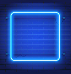 Abstract Black Tech Background With Blue Neon Vector Image Neon Light Wallpaper Neon Wallpaper Blue Neon Lights