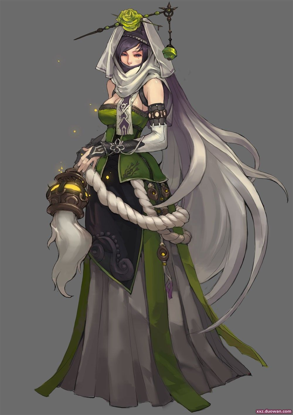 Lady Cosimia of the guild. Powers of light and dark