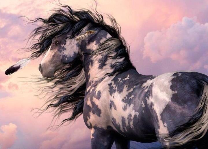 Breezy mane equine art