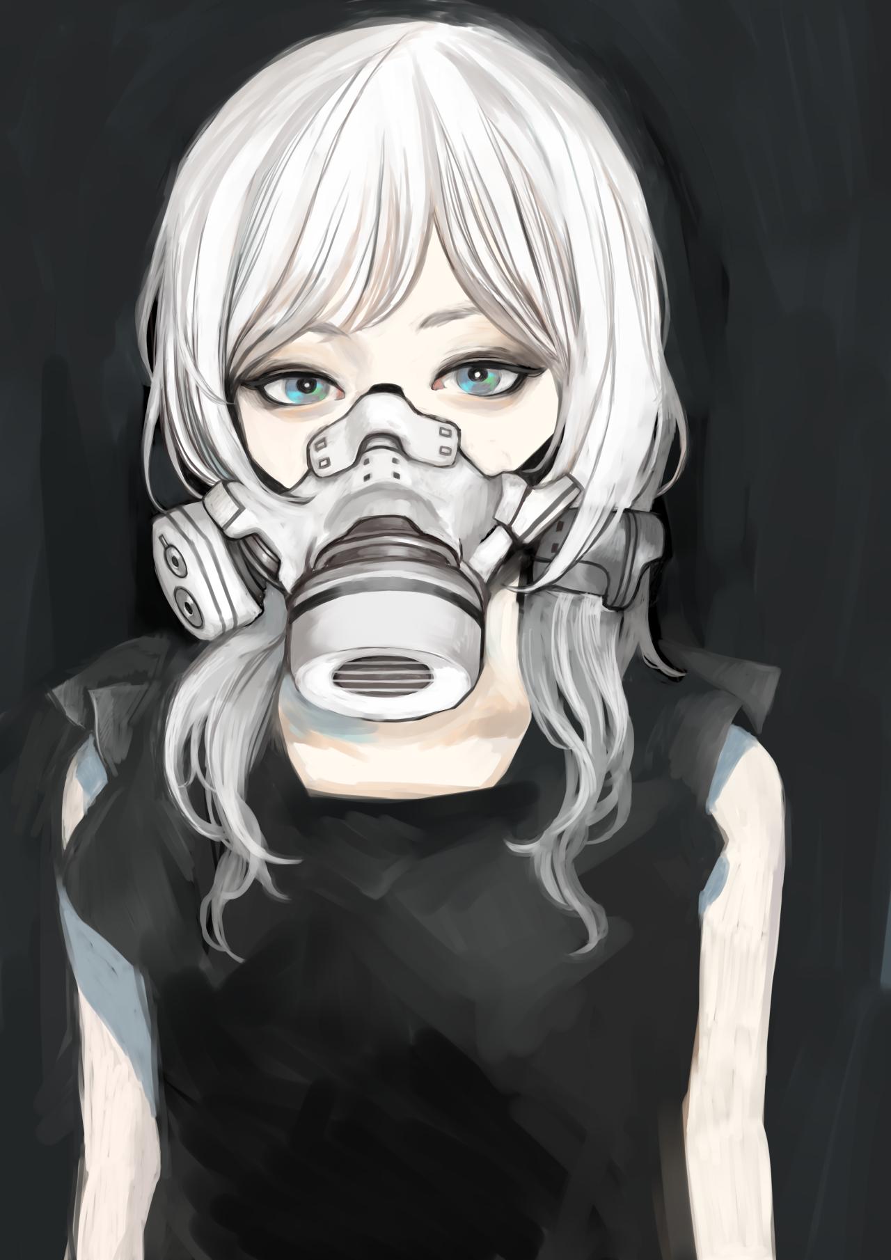 白マスク ざしきわらし のイラスト pixiv ガスマスク イラスト アニメの女の子のデッサン イラスト