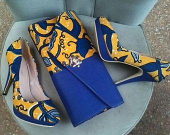 fc846228fe2d5 Platform heelsAnkara Heels African Print Shoes Women's   Beautiful ...