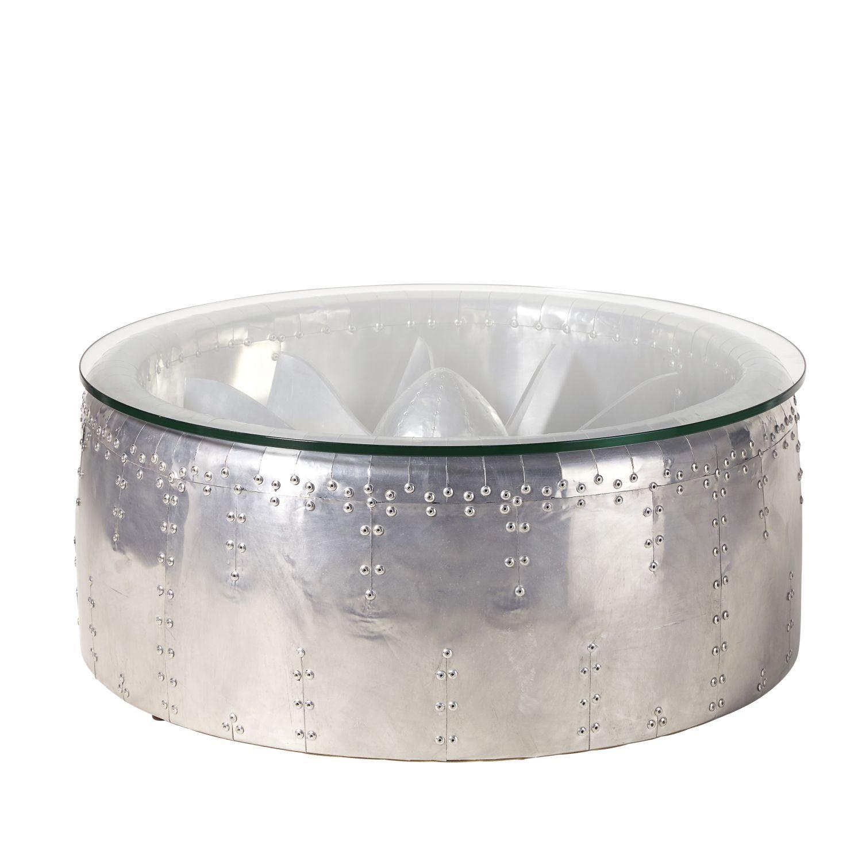 Table En Aluminium Et Ronde Indus Basse Verre 2019Mobilier fIgyb7Y6vm