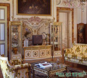 Bufet Tv Lemari Hias Klasik Mewah Klasik Kemewahan