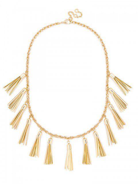 Gold Tassel Strand Necklace | BaubleBar