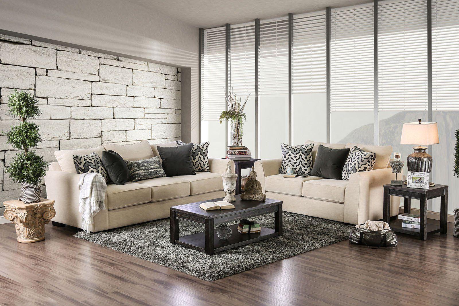 Durand Transitional Sofa u0026 Love Seat Durand