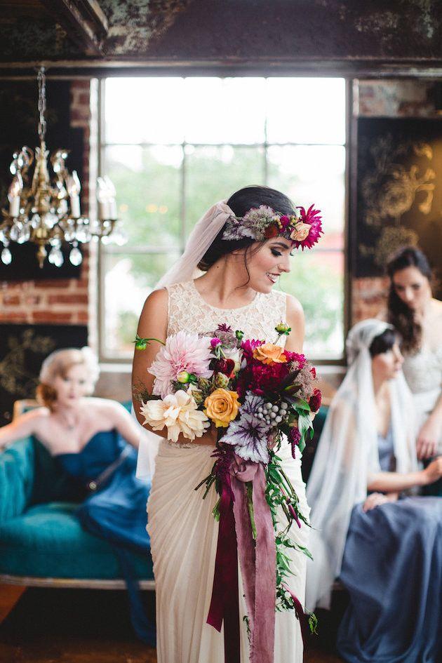 Dark Colourful Wedding Inspiration Wedding Colors Wedding Wedding Inspiration