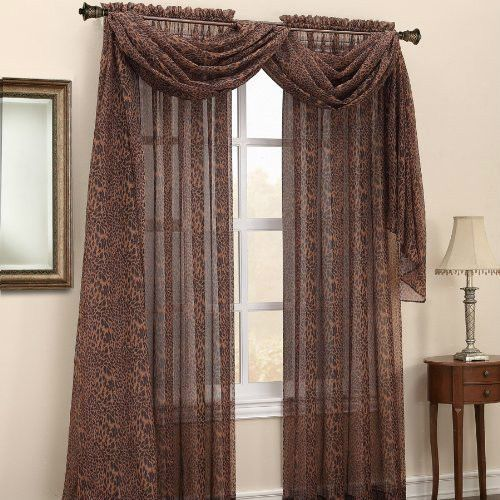 Kitchen Curtain Ideas South Africa: Details About LEOPARD SKIN ANIMAL PRINT SHEER CURTAIN