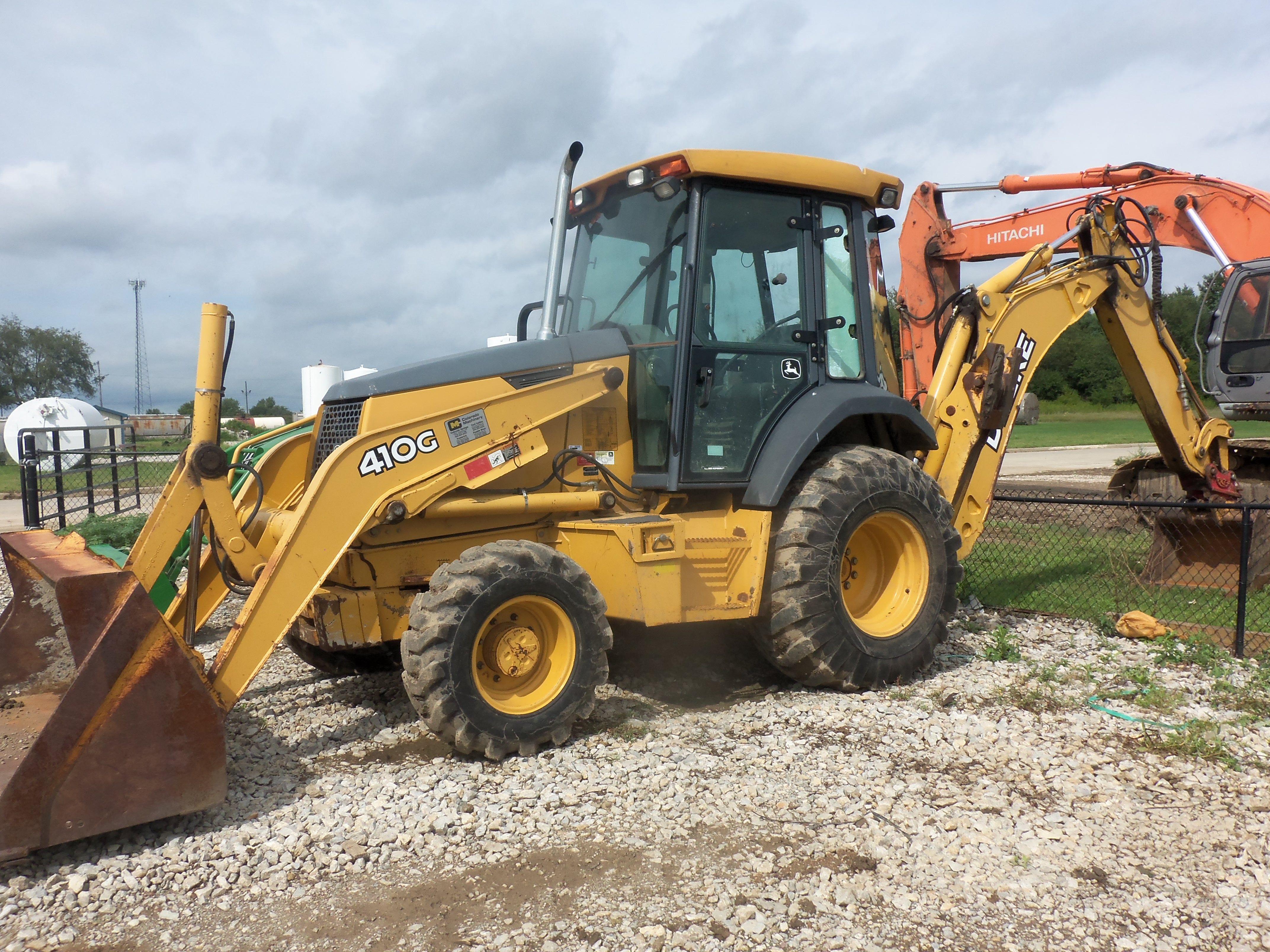 John Deere 410G tractor loader backhoe Tractor Loader, Backhoe Loader,  Heavy Equipment, Tractors