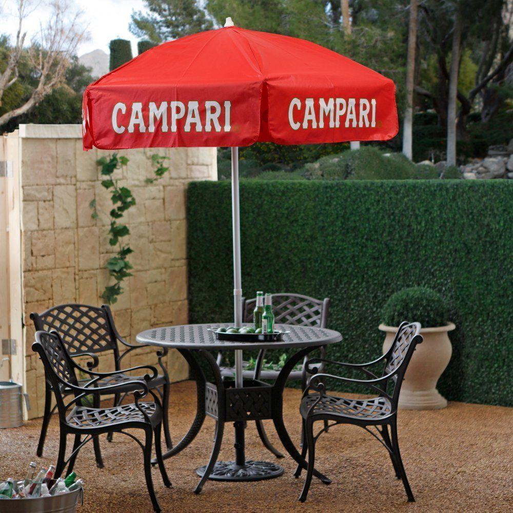 Elegant DestinationGear 6 Ft. Aluminum Campari Logo Patio Umbrella