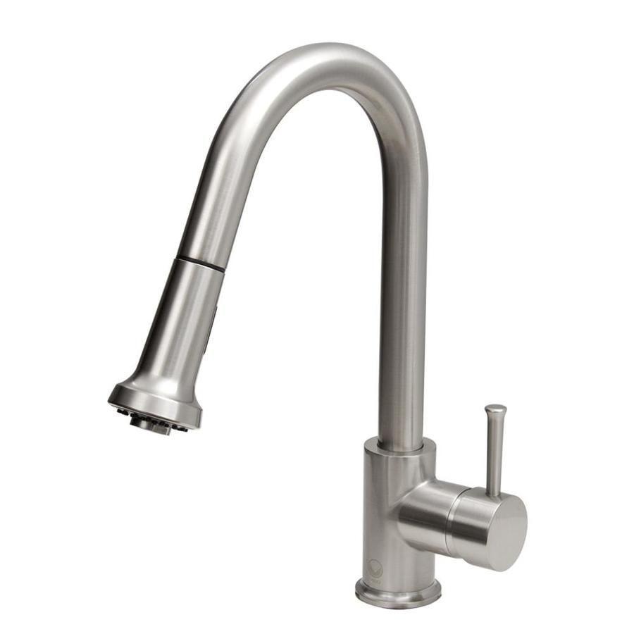 vigo harrison stainless steel 1 handle deck mount pull down kitchen rh pinterest com