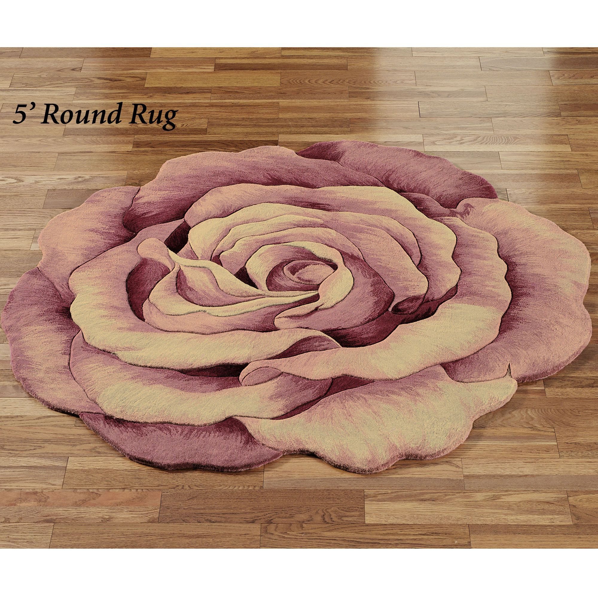 Roselinn Flower Round Rugs Nice And