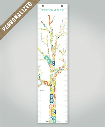 Growth chart growing tree personalized growth charts