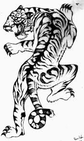 Image Result For Tiger Climbing Tattoo Desain Tato Tato Desain