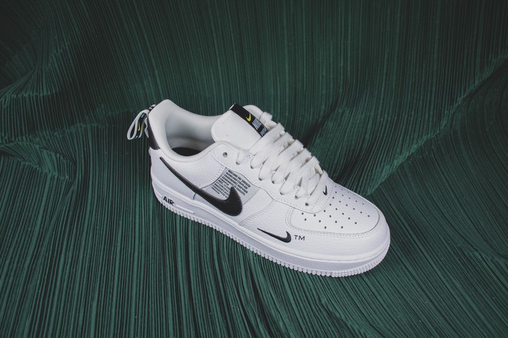 Nike Air Force 1 07 Lv8 Overbranding Utility White Black Aj7747 100 In 2020 Nike Air Force Nike Air Force