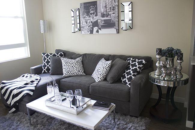 apartment home decor with a gray black white color scheme rh pinterest com au