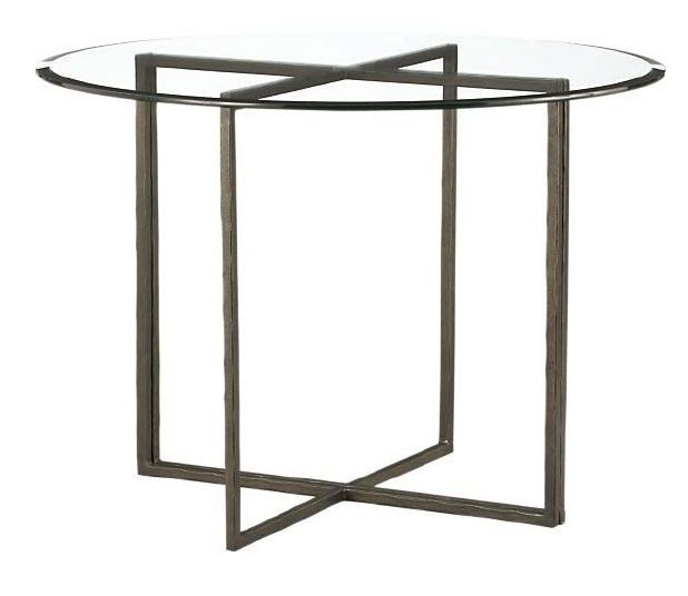 Crate Barrel Everitt Table Round Dining Table Glass Top Table