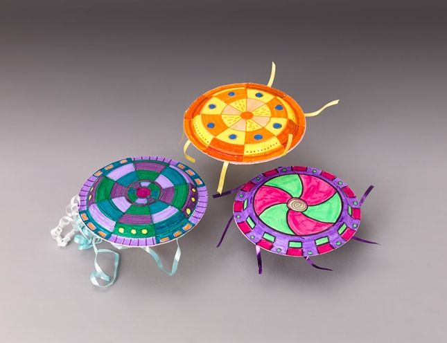 Lovely Space Craft Ideas For Kids Part - 14: Paper Plate Flying Saucer U. Space Craft 1 234 Make Your Very Own Paper  Plate Flying Saucer U. Space Craft With This Simple And Co.