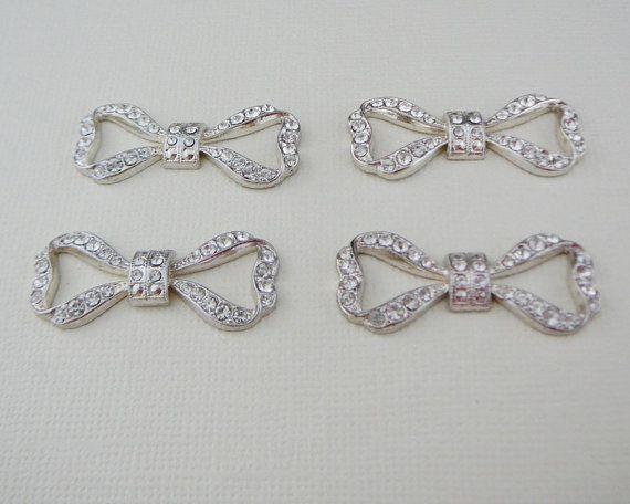 Vintage ... Rhinestone Bow Pendant Connector Link by dibabeads, $8.00
