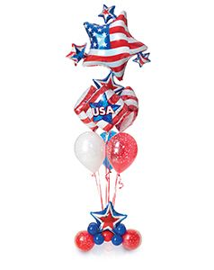 show your patriotic pride with this red white and blue balloon rh pinterest com