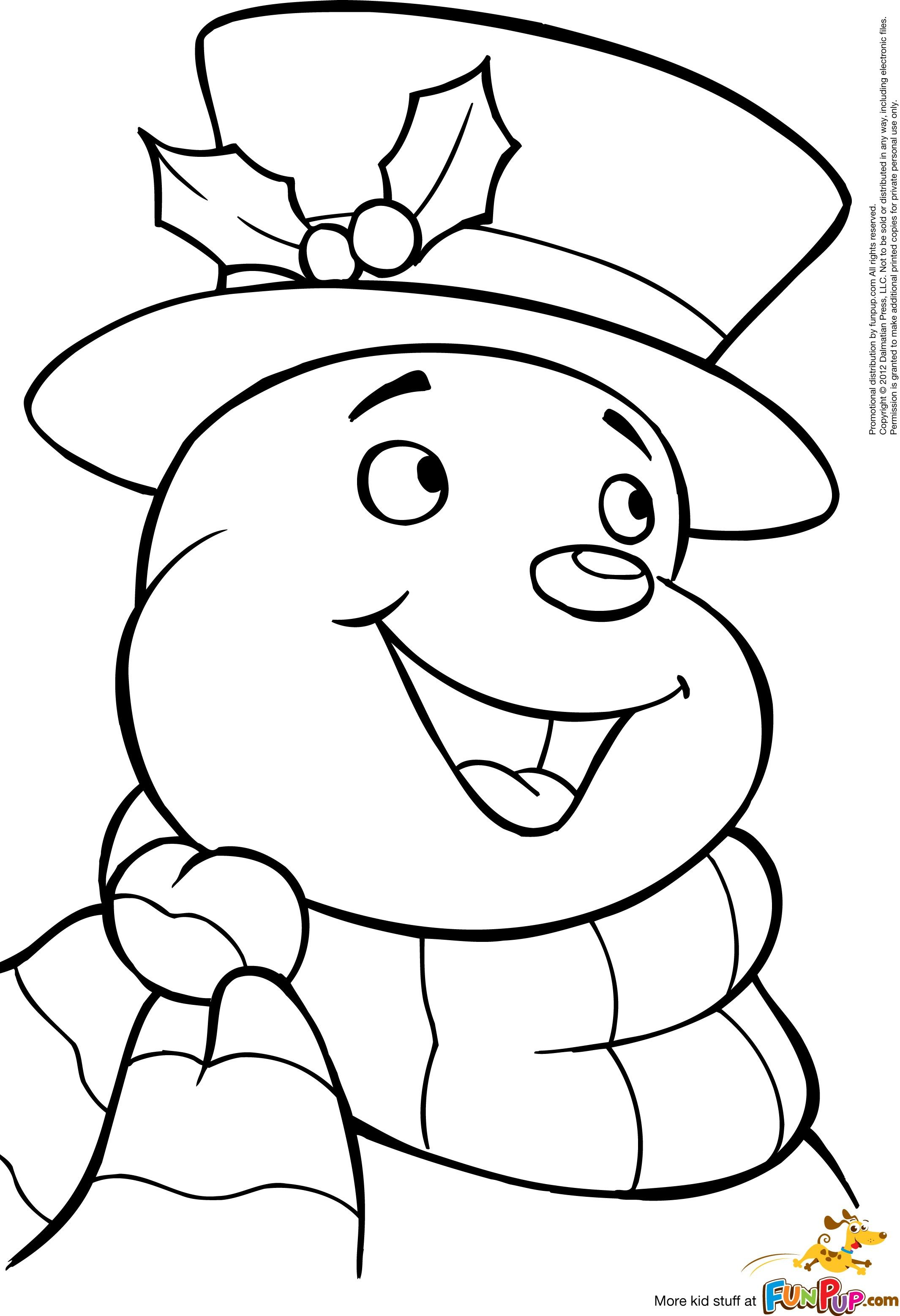 printable jolly snowman coloring