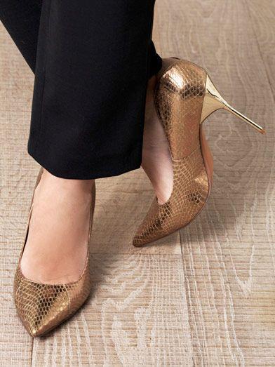 Sam Edelman snake-effect shoes