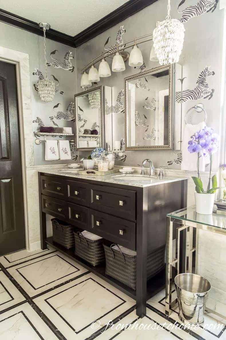 eclectic deco glam master bathroom makeover home decor rh pinterest com