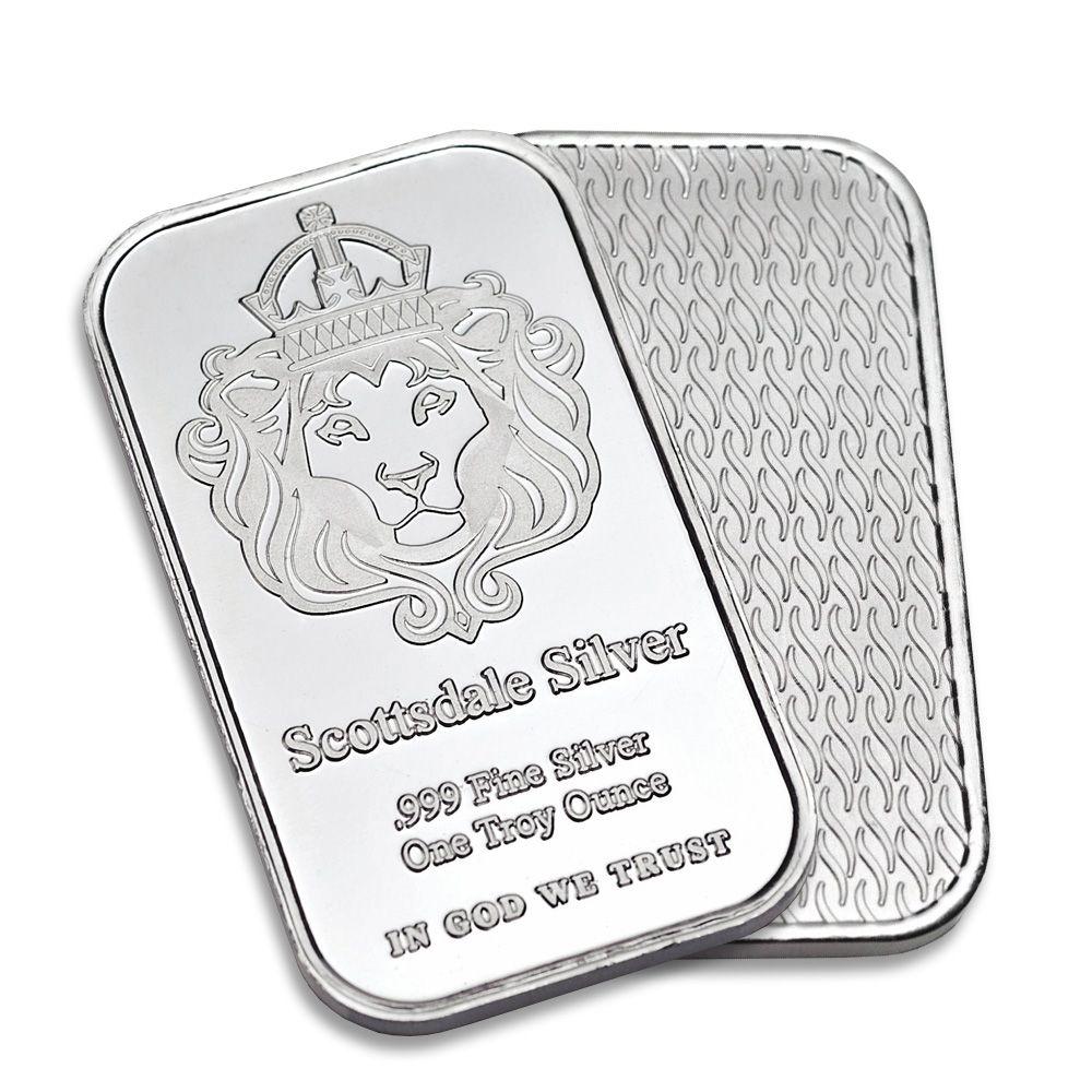Scottsdale 1oz Silver Bar One Ounce 999 Silver Silver Bars Buy Silver Bullion Silver Bullion