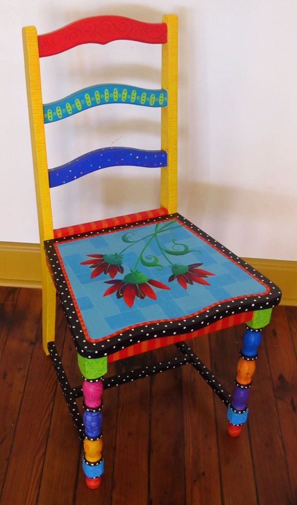 original handpainted furniture in bright bold colors
