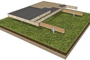 Wooden House Popup House Foundation Options Construction Bois