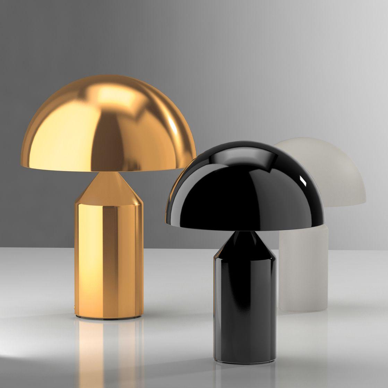 ATOLLO   Lampe à poser Or H70cm   Lampe à poser O Luce designé par Vico Magistretti ...