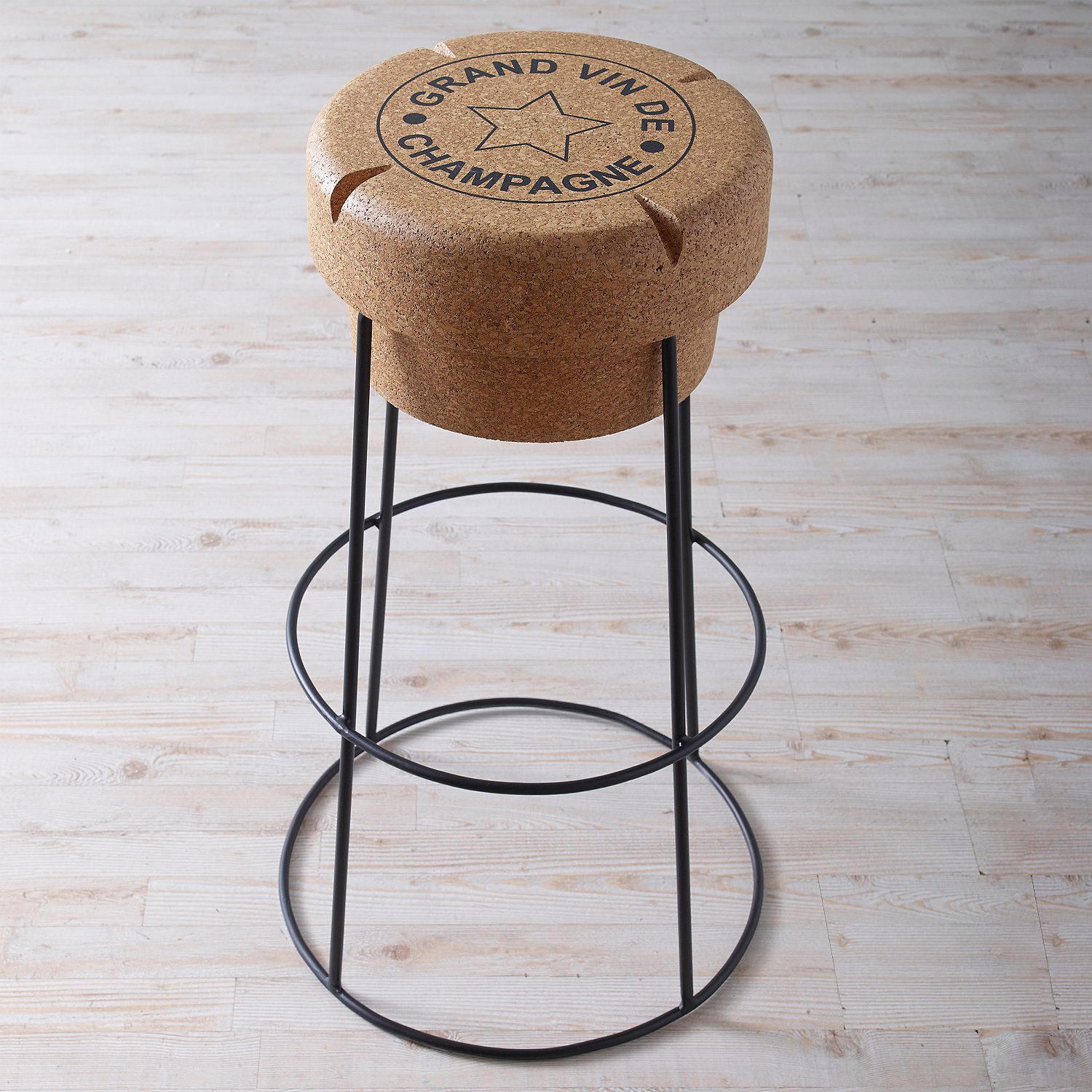 Champagne Cork Bar Stool Really Cool Things Wine
