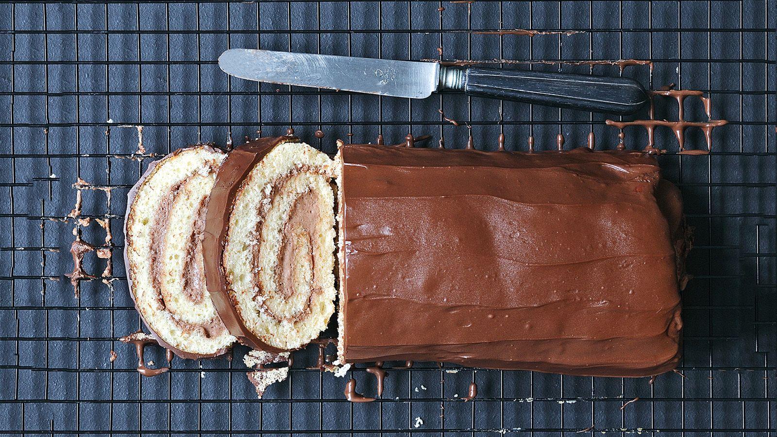 Opgerolde cake met Nutella - Alles met Nutella