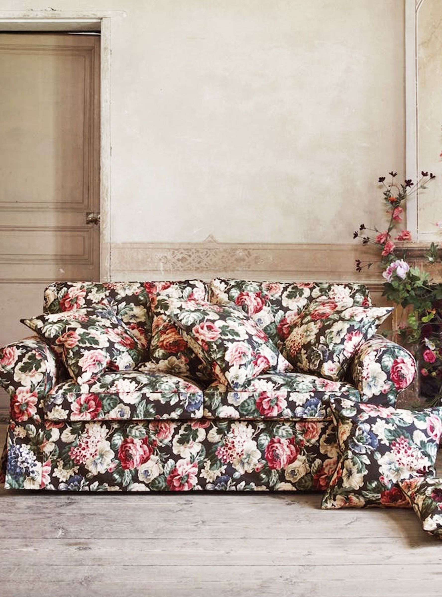 Ikea S Drastically Different New Look Will Make Your Apartment Way More Grown Up Floral Sofa Ikea Floral Couch