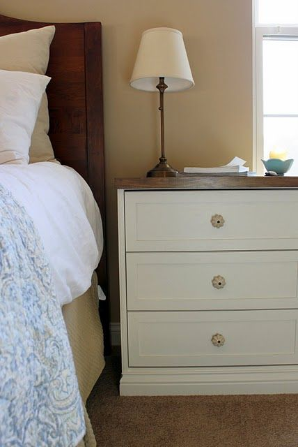 RAST Dresser From IKEA Transformed To A Beautiful Nightstand   Added Base  Molding Lattice For Trim